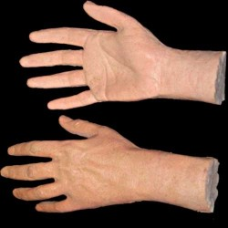 OPEN FINGER MALE HANDS-PAIR-FRESH FINISH