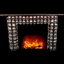 SKULL FIREPLACE RELIEF
