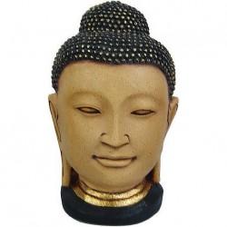 Голова Будды раскрашенная малая