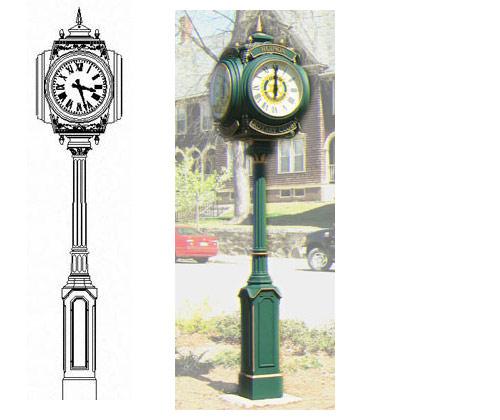 Уличные часы dial howard small