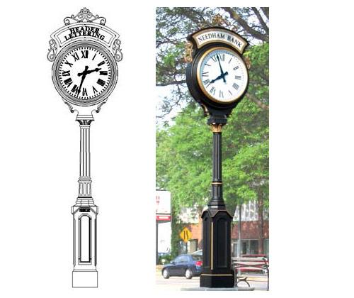 Купить уличные часы, индивидуальные.