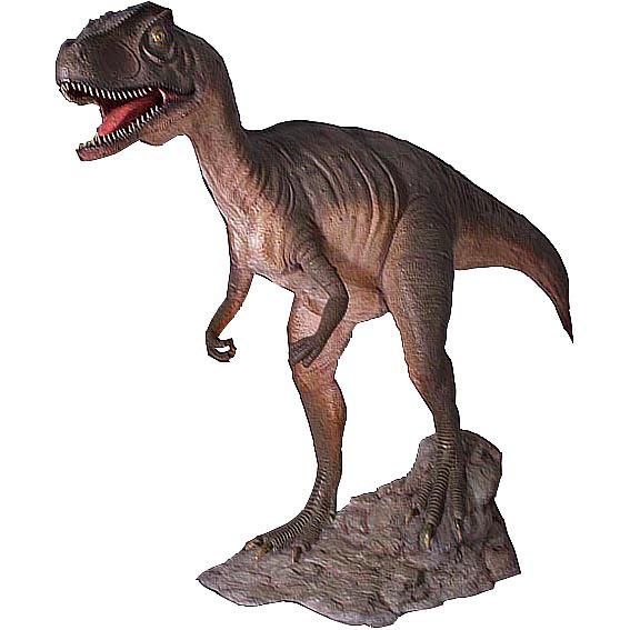 Аллозавр с открытой пастью