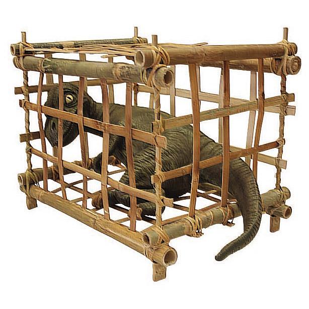 Детеныш тиранозавра (в бамбуковой клетке)