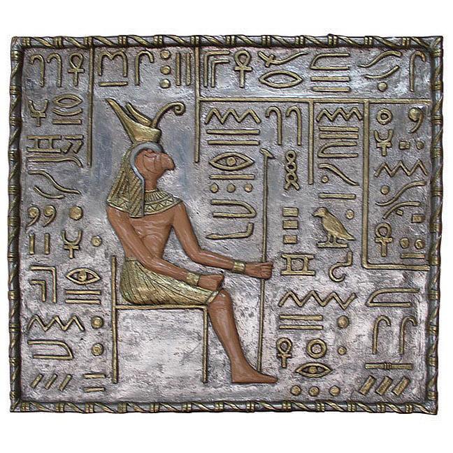 Сидящий Анубис настенный декор