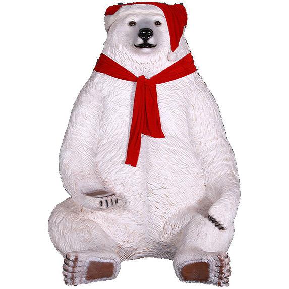 Новогодний медведь гигантский