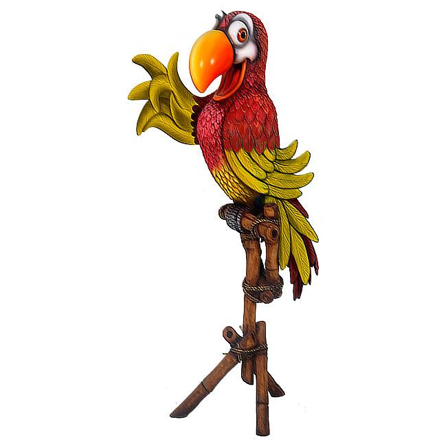 Попугай на подставке